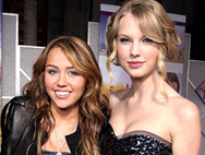"""Taylor Swift: """"I Don't Compete"""" With Pal Miley Cyrus"""