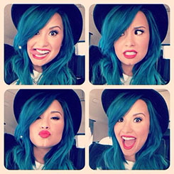 What Do You Think of Demi's Blue Hair?