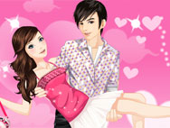 Lovely couple dressup game
