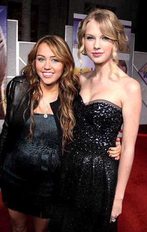 "Taylor Swift: ""I Don't Compete"" With Pal Miley Cyrus"