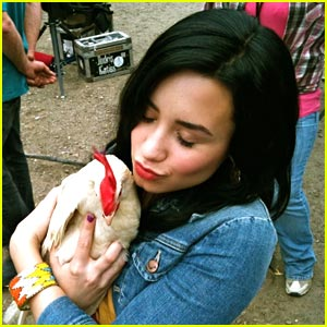 Demi Lovato Falls In Love With A Chicken